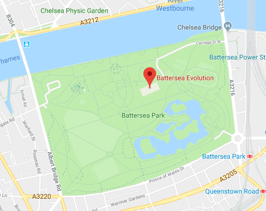Location of Battersea Ball
